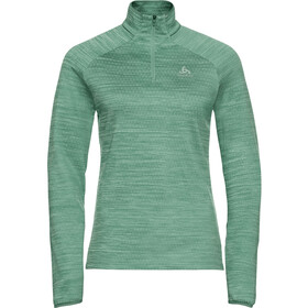 Odlo Millennium Element Midlayer met 1/2 rits Dames, malachite green melange